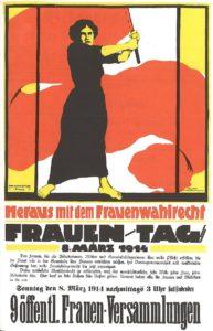 Frauentag 1914 - historisches Plakat zum Wahlrecht